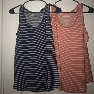 Striped tank tops